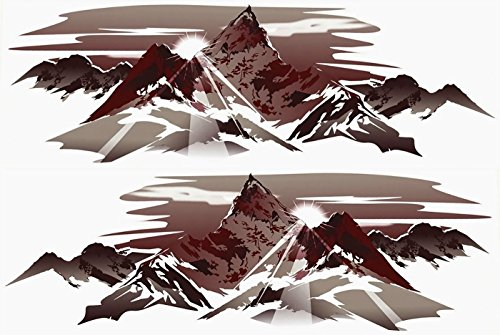 Kit Decal Graphics (DB Graphics 2 RV TRAILER CAMPER MOUNTAIN GRAPHICS DECALS -630-kit)