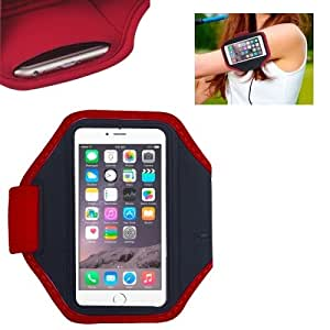 Neoprene Fashion Sports Armband Case for Apple iPhone 6 (Red)