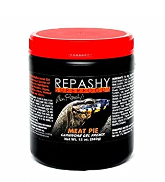 Repashy Meat Pie Reptile 12oz Jar - Complete Carnivore Diet - High Protein High Fat Repashy Superfoods