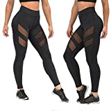"""Gender:Women Item Type:Sport Trousers,Yoga Fit Type:Straight Thickness:Standard Pattern Type:Patchwork Mesh Style:Casual Sport: Yoga/Jogging Package include:1*Women Pants Asian Size:S--Waist:66-92CM/26-36.2""""--Length:89CM/35 Asian Size:M--Waist:68-94C..."""
