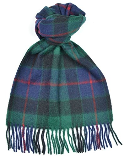 (Lambswool Scottish Clan Scarf Morrison Green Modern Tartan)