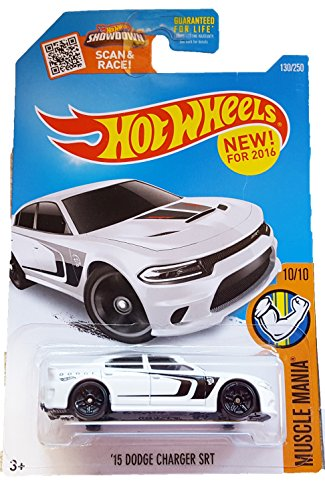 Hot Wheels 2016 Muscle Mania '15 Dodge Charger SRT Hellcat Hell Cat (Dodge Charger Muscle Cars)