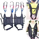 Patient Lift Slings Medical Walking Standing Aids Transfer Belt Seat Bold Straps Lifting Cushion Padded Full Body Carrier with Adjustable Waist and Height AmyBy Black Free Large to 4XL Size