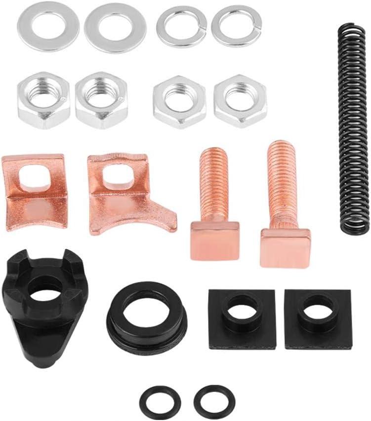 Profi Starter Anlasser Reparatursatz f/ür TD5 2.5 Diesel usw Kontaktschrauben Magnetkontakte Diesel Starter Motor Reparatursatz mit Magnetkolben