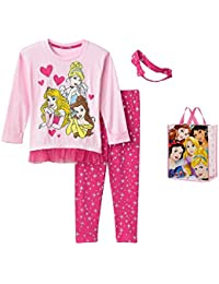 Disney Princess Little Girlsu0027 Clothing Set U0026 Tote   4 Piece Set