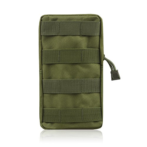 (AMYIPO MOLLE Pouch Multi-Purpose Compact Tactical Waist Bags Small Utility Pouch (8x4 Green) )