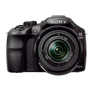 "Sony ILCE3000 - Cámara EVIL de 20.1 Mp (pantalla 3"", vídeo Full HD), color negro - kit con 18-55mm OSS f/3.5"