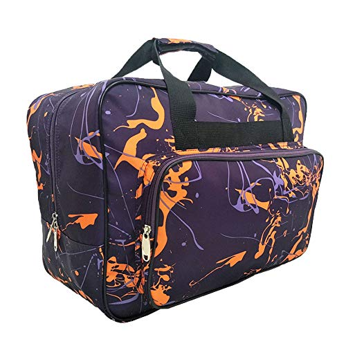Sewing Machine Carrying Case Tote Bag,Padded Storage Cover Carrying Case with Pockets and Handles ,Canvas , Free Gifts Small Tool Bag (Dark Purple)
