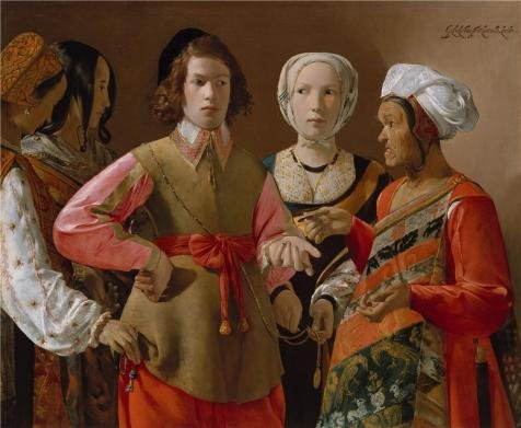 Fortune Teller Costume Images (high quality polyster Canvas ,the Replica Art DecorativePrints on Canvas of oil painting 'Georges de La Tour-The Fortune Teller,1630', 8x10 inch / 20x25 cm is best for Wall art artwork and Home decor and Gifts)