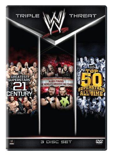 WWE: Triple Threat Collection: Greatest Superstars of the 21st Century / Allied Powers: The Worlds Greatest Tag Teams / Top 50 Superstars of All Time - Worlds Greatest Tag