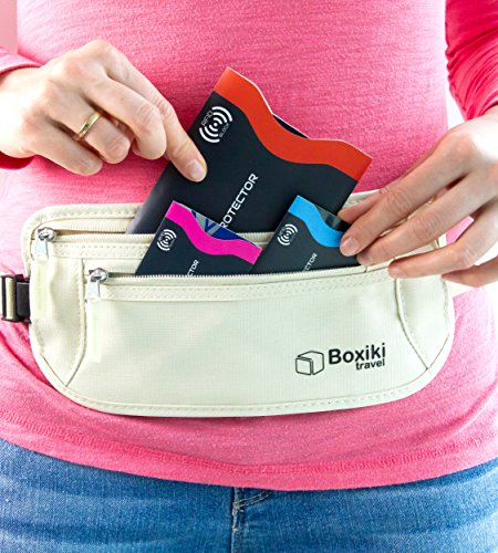 RFID-Blocking-Sleeves-Set-of-15-With-Color-Coding-Identity-Theft-Prevention-RFID-Blocking-Sleeve-Set-by-Boxiki-Travel-12x-Credit-Card-Holder-3x-Passport-Protector-Navy-Blue