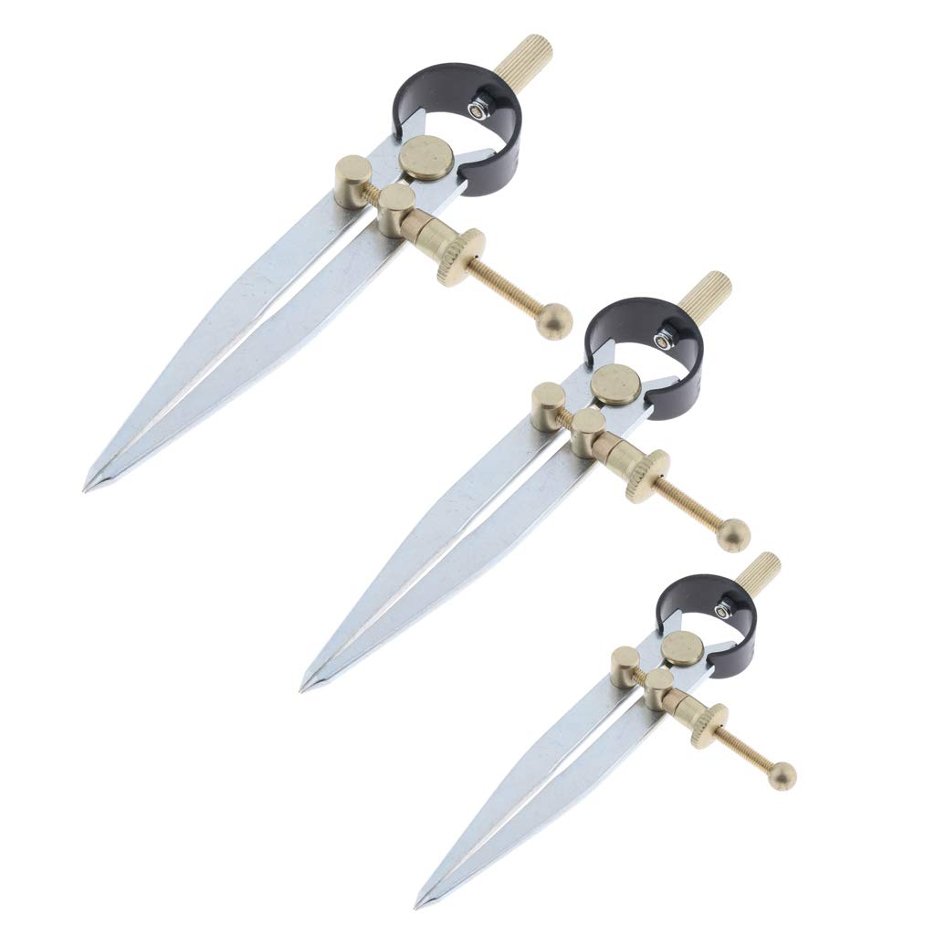 Comes with centrally Mounted Quick Release Adjusting nut Almencla Set of 3PCS Spring Dividers Calipers Scratch Compass Wing Divider 4//5//6Inch