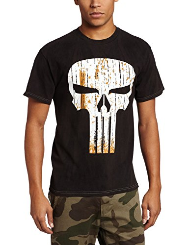 Charcoal River Wash T-shirt (Marvel Men's Straw Face, Charcoal River Wash, X-Large)
