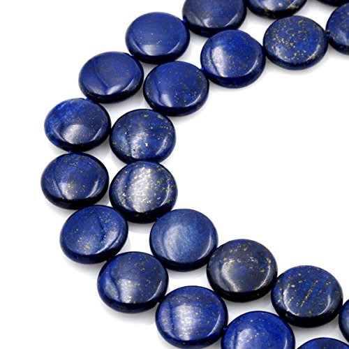 - BRCbeads Gorgeous Natural Lapis Coin Gemstone Loose Beads 14mm Approxi 15.5 inch 28pcs 1 Strand per Bag for Jewelry Making