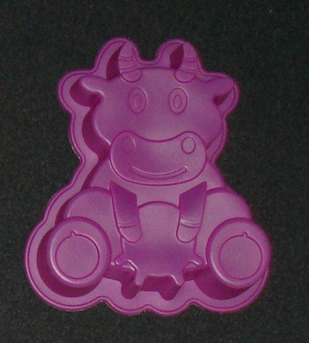 Vaca Animales de Granja molde de silicona flexible Jelly - Molde para Cake Pan lata de CFU: Amazon.es: Hogar