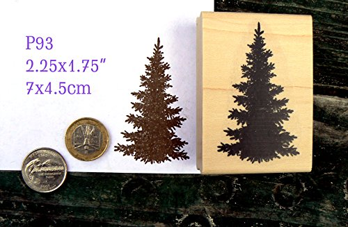 P93 Evergreen, pine tree rubber stamp Pine Rubber Stamp