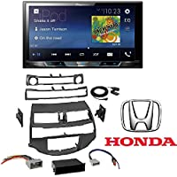 Pioneer 7 Double-DIN In-Dash Digital Media & A/V Receiver with Bluetooth Car Radio Stereo Install Dash Kit Harness Antenna for 2008-2012 Honda Accord