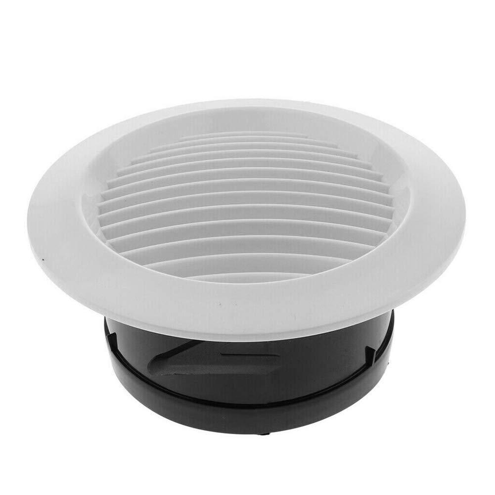 Starmood Ventilaci/ón Parrilla Circular Interior Ventilaci/ón Redondo Salida Tubo Conducto Tapa 75mm
