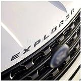 all black ford emblem - Exotic Store F-ERB 2011-2017 3D Metal (not Plastic) Fit for Ford Explorer Sport Chrome Black Front Hood Emblem Letters Badge Decal (Matte Black)