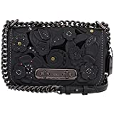COACH Women's Coach Swagger Shoulder Bag 20 In Glovetanned Leather With Tea Rose Tooling Dk/Black One Size