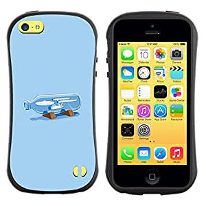 Suave TPU GEL Carcasa Funda Silicona Blando Estuche Caso de protección (para) Apple Iphone 5C / CECELL Phone case / / Bottle Drawing Painting Art /