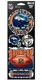 WinCraft NFL Denver Broncos Prismatic Stickers, Team Color, One Size