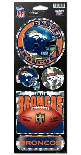 Wincraft NFL Denver Broncos Prismatic Stickers, Team Color, One Size