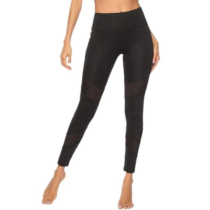 SXZG Nuevos Pantalones De Yoga De Costura De Hilo De Malla ...