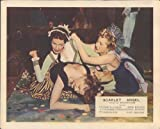 SCARLET ANGEL YVONNE DE CARLO AMANDA BLAKE CATFIGHT BAR BRAWL LOBBY CARD