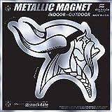 "Minnesota Vikings 6"" MAGNET Silver Metallic Style Vinyl Auto Home Football"