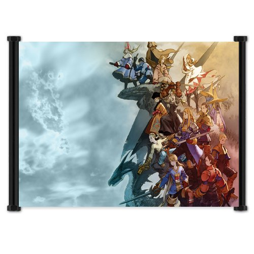 Final Fantasy Tactics Game Fabric Wall Scroll Poster  Inches