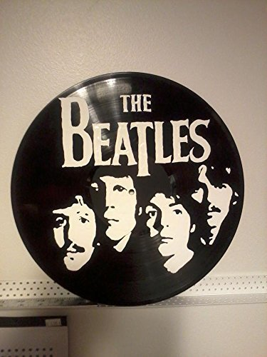 (Wall art Hand painted vinyl record The Beatles)