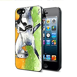 Dappled Gray Andalusian Dressage Horse Art by Denise Every Apple iPhone 5/5s Black Case