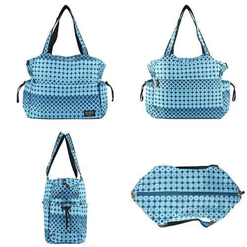 Double Elite (D.E.) Bolso Cambiador Bebe con 2 Accesorios 42cm(L) x 18cm(W) x 33cm(H) azul