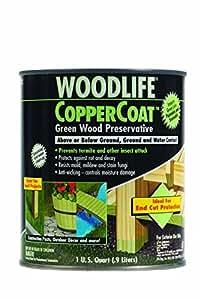 Rust Oleum 1904a Wolman Woodlife Coppercoat Green Wood Preservative Below Ground Quart