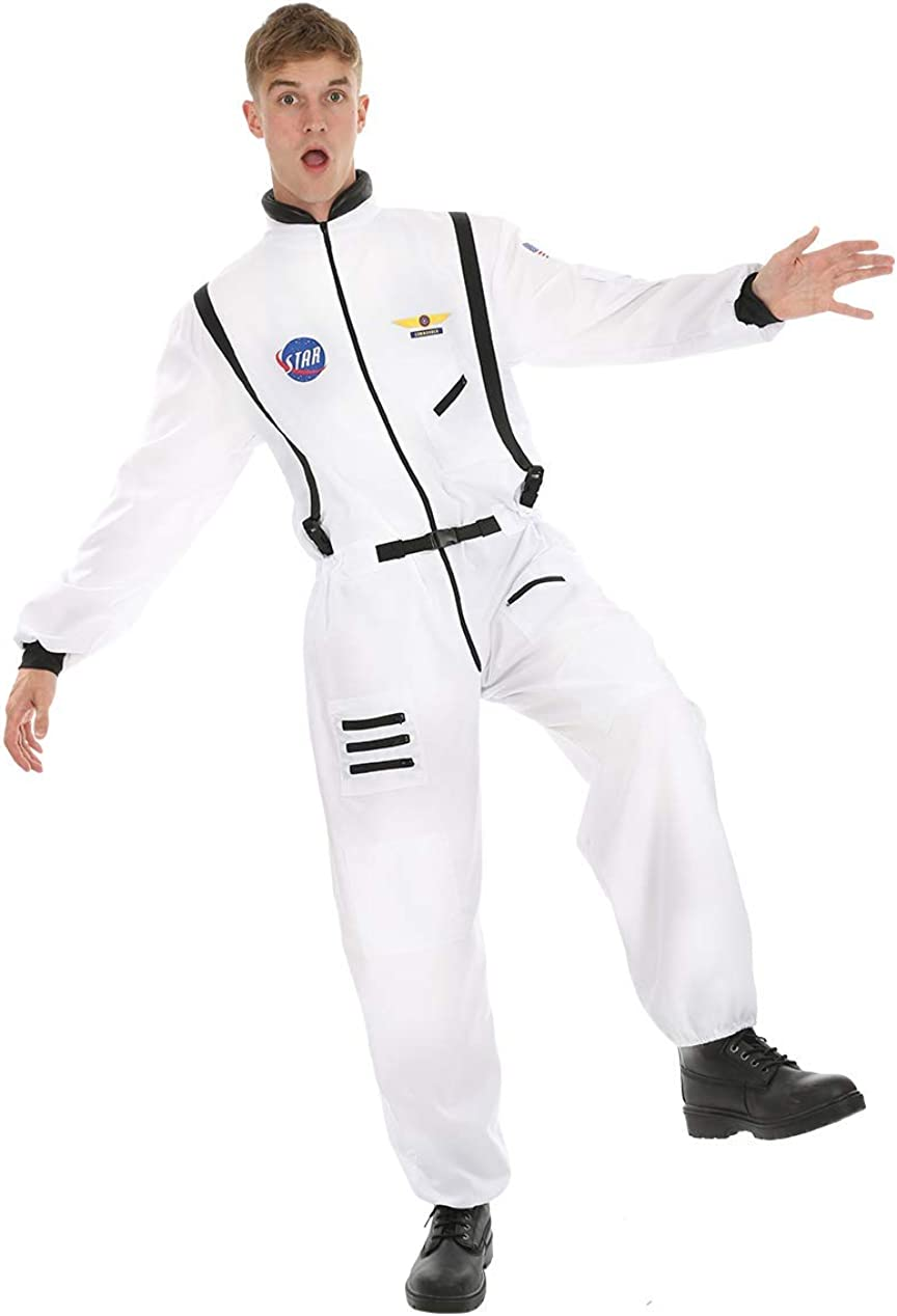 Disfraz de Astronauta Traje Espacial Blanco para Hombres: Amazon ...
