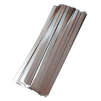 MXBAOHENG - Lote de 500 Tiras de Acero niquelado para Soldador de Puntos de batería, 0,1 x 4 x 100 mm: Amazon.es: Hogar