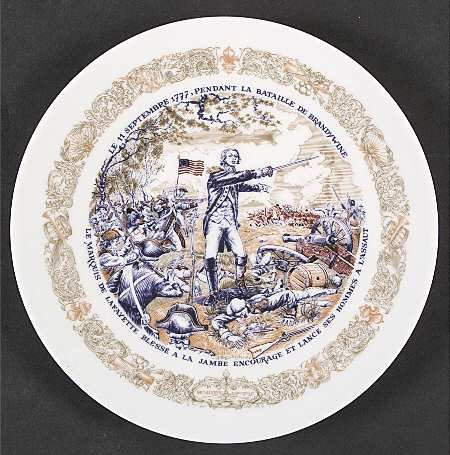 D'ARCEAU LIMOGES - Battle of Brandywine - Lafayette for sale  Delivered anywhere in USA