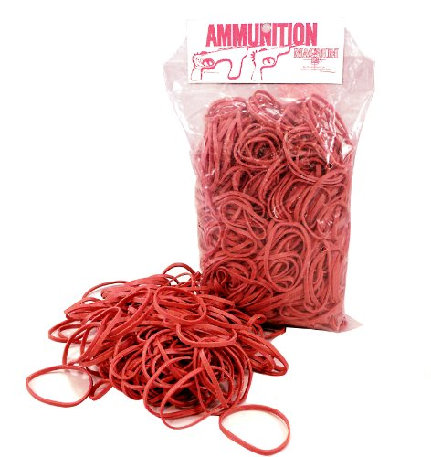 Magnum Enterprises Official Red Ammo, Size 32 Rubber Band, 16-Ounce Bag