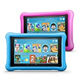 Fire HD 8 Kids Edition Tablet 2-Pack, 8' HD Display, 32 GB, Kid-Proof Case - Blue/Pink