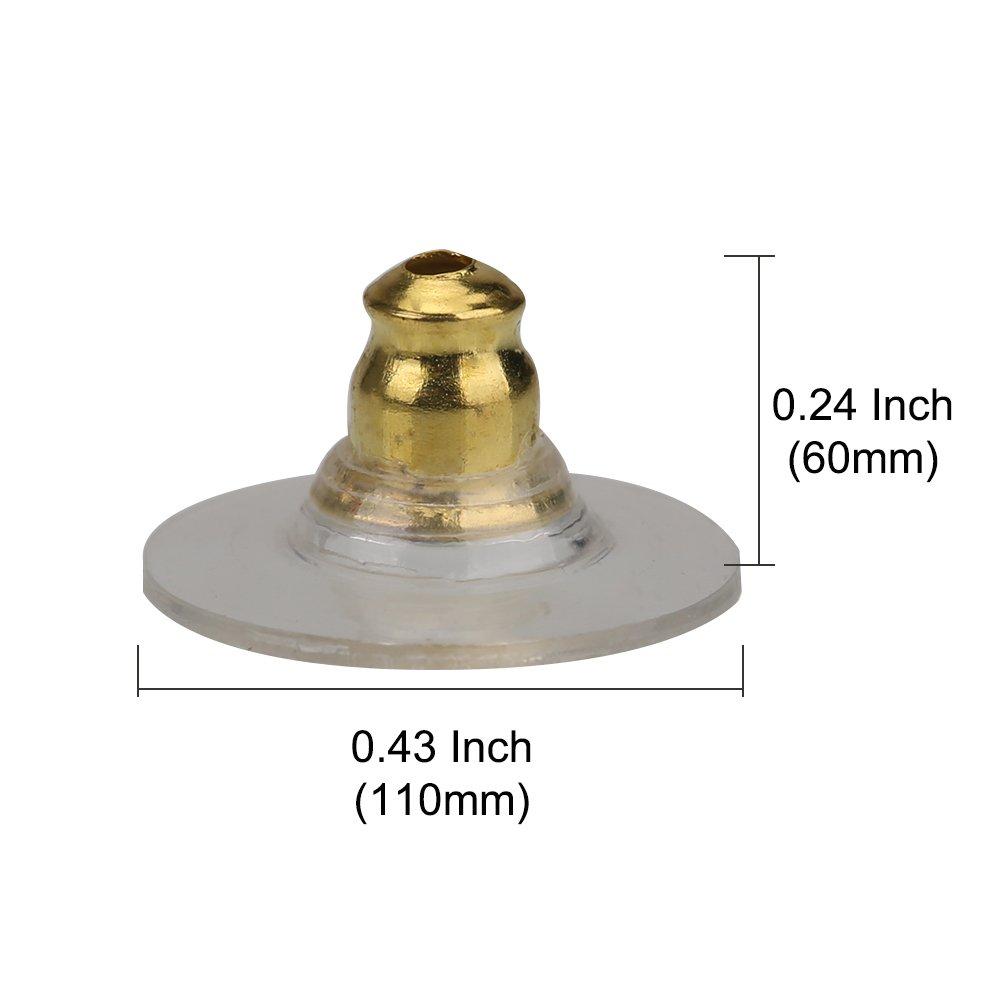 oro bala de embrague pendiente seguridad Backs Shintop 100pcs pendiente Backs con Pad