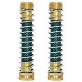 Twinkle Star Garden Hose Extension Adapter, Hose Kink Protector with Coil Spring, 2 Pack