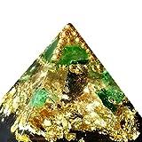 Emerald Orgone Pyramid, Love, Heart ArboreaCrystals Design orgonita