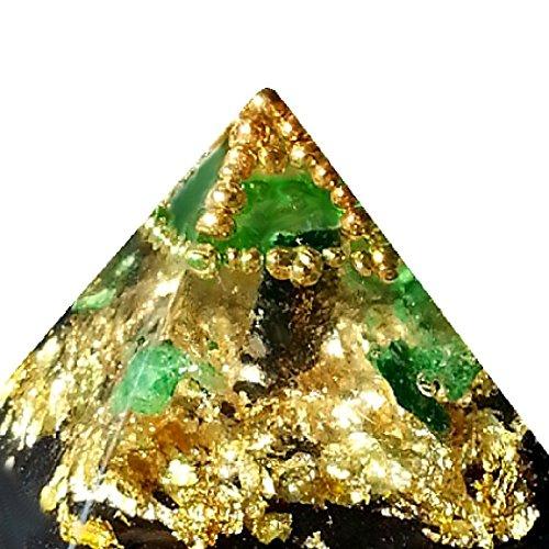 Emerald Orgone Pyramid, Love, Heart ArboreaCrystals Design orgonita by ArboreaCrystals Orgone