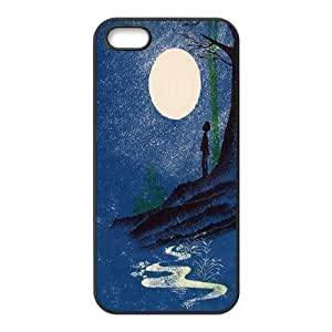 Moon Art Hard Skin Pattern Back Phone Case Potector For Iphone 5,5S Case TSL324138