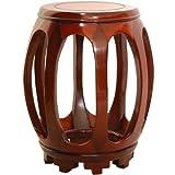 "Circular Rosewood Stand - Honey (Honey) (17.5""H x 11""W x 11""D)"