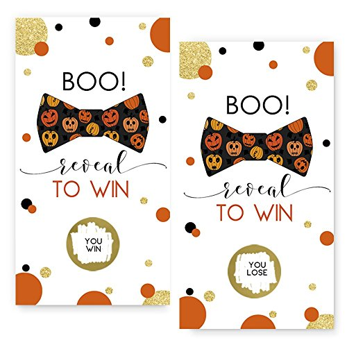 Halloween Pumpkin Scratch Off Game Card (28 Pack) -