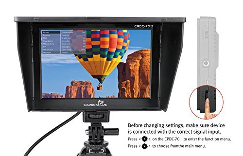 CameraPlus - CP-DC-70 Clip-on Color TFT LCD Monitor HDMI AV Input for Camera by Cameraplus