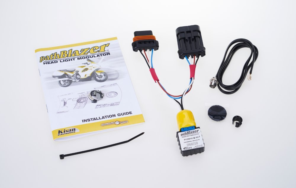 FLHTCU /& FLHTK Motorcycle Headlight Modulator P115W-H3-HD4 with Plug n Play Programming No-cut pathBlazer By Kisan Designed For Your Bike with Daylight Sensor Easy Install Kisan Electronics 5559065577