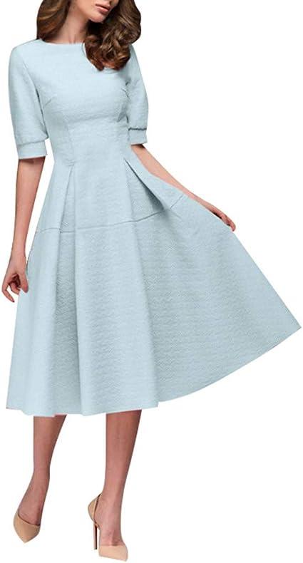 Vestido largo por la rodilla, mangas con volantes | Dresses